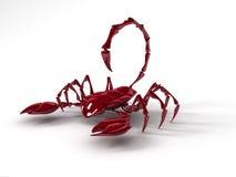 Skorpionen 3D framför stock illustrationer