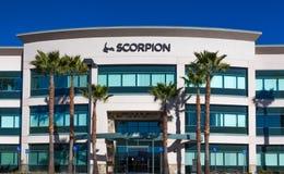 Skorpions-Hauptsitze und Logo Lizenzfreies Stockfoto