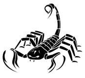 Skorpions-Maskottchen-Tätowierung lizenzfreie abbildung