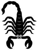 Skorpionu cienia czerń Obrazy Stock