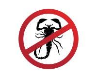 Skorpionu logo szablonu Vetor ilustracja ilustracji