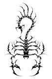 skorpionu tatuaż royalty ilustracja