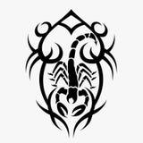 Skorpionvektorillustrationer för olika designer royaltyfri illustrationer