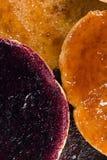 Skorpor med fruktdriftstopp Arkivbild