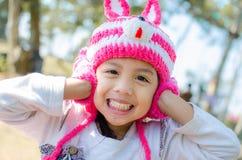 Skorupiasta dziewczyna no słucha. Fotografia Stock