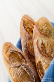 skorupiasty baguettes francuz trzy Obrazy Stock