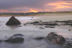 Skotsk by av St-hårkammar, Fraserburgh Arkivfoto