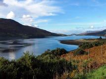 Skotsk fjord Fotografering för Bildbyråer