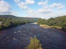 Skotsk flod Arkivbild