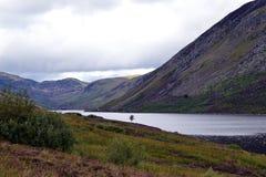 Skotsk höglands- fjord och berg Fotografering för Bildbyråer