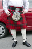 Skotsk kilt arkivbild