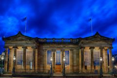 Skotsk National Gallery i Edinbrugh royaltyfria bilder