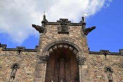 Skotsk nationell krigminnesmärke i Edinburgslott Arkivfoton