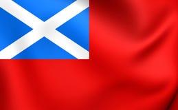 Skotsk röd flagga stock illustrationer