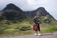 skotsk säckpipa Arkivbild
