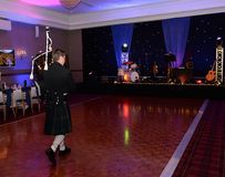 Skotsk säckpipeblåsare Royaltyfria Foton