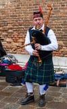 Skotsk säckpipeblåsare Royaltyfri Bild