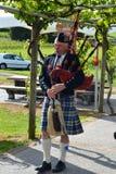 Skotsk säckpipeblåsare Arkivbild