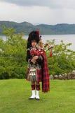Skotsk säckpipeblåsare Royaltyfri Foto