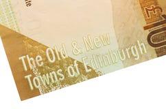 Skotsk sedel, 10 pund Fotografering för Bildbyråer