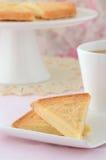Skotsk shortbread med tea Arkivfoton