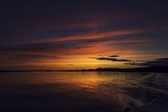 skotsk solnedgång Arkivbild