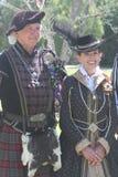 Skotsk tartanfestival royaltyfri bild