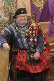 Skotsk tartanfestival arkivbilder