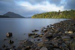 Skotska högländerna för fjordLaggan skotte royaltyfri fotografi