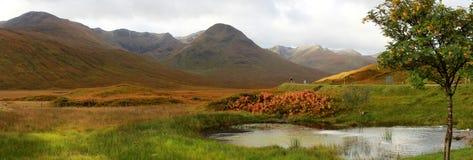 Skotska högländerna Skottland royaltyfria bilder