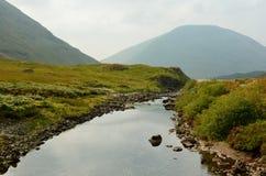 Skotska högländernaflod Arkivfoto