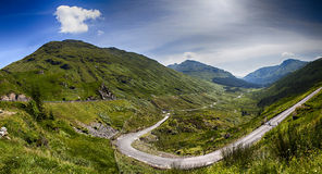 Skotska högland landskap Arkivfoto
