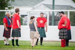 Skotska höglandlekar Fotografering för Bildbyråer