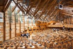 Skotska parlamentet i Edinburg, Skottland Arkivbild