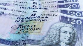 Skotska pengar Fotografering för Bildbyråer