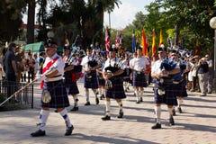 skotska pipblåsare Royaltyfria Bilder
