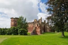 Bothwell slott i Skottland Arkivfoto