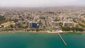 2 skott av den Limassol staden i Cypern Royaltyfri Foto