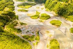 Skott för antenn för Pastaza flodhandfat royaltyfria foton