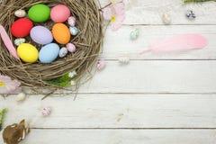 Skott för bästa sikt av ferie för påsk för ordningsgarnering lycklig Royaltyfri Bild
