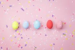 Skott för bästa sikt av ferie för påsk för ordningsgarnering lycklig Arkivfoton