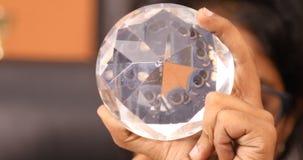 Skott för Diamond Crystal closeupmakro stock video