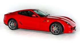 Skott för Ferrari 599 GTB Fiorano V12 toppen bil isolerat vitt bakgrundsstudio arkivfoton