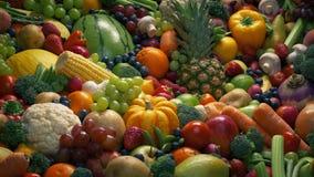 Skott för frukt- och grönsakblandningsflyttning arkivfilmer