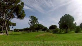 Skott för golfutslagsplats, i Algarve den berömda destinationen, Portugal Arkivfoto