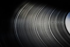 Skott för makro för vinylrekord royaltyfri foto