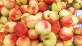 Skott för närbild för persika` s; den saftiga persikan är ny och billig Royaltyfria Bilder