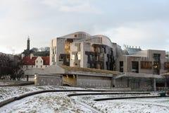 skott för parlament för byggnadsedinburgh holyrood Royaltyfri Fotografi