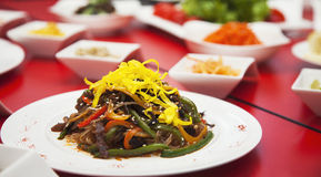 Skott för restaurang för foto för matkötttabell Royaltyfria Foton