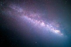 skott för siktsuniversumutrymme av galaxen för mjölkaktig väg med stjärnor på en bakgrund för natthimmel royaltyfria foton